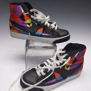 NIKE Blazer Geometric Multicolor Sneakers Size 8.5